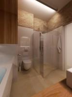 Łazienka z wanną i kabiną prysznicową.