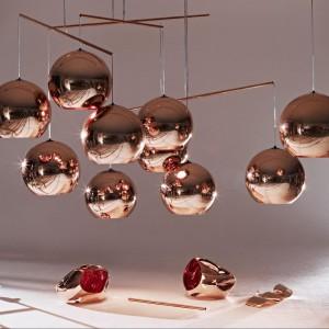 Zjawiskowe lampy Copper od marki Tom Dixon. Fot. Tom Dixon.