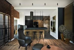Ciepły i elegancki apartament w loftowym charakterze w centrum Krakowa.