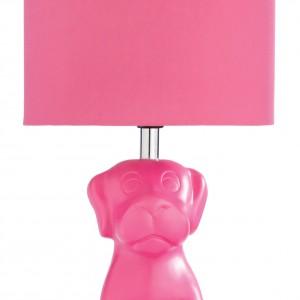 Słodki szczeniaczek tworzy podstawę dekoracyjnej lampy. Fot. Very.