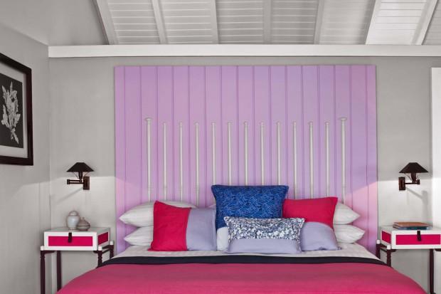 Kolorowe ściany w sypialni - aranżacje i dekoracje