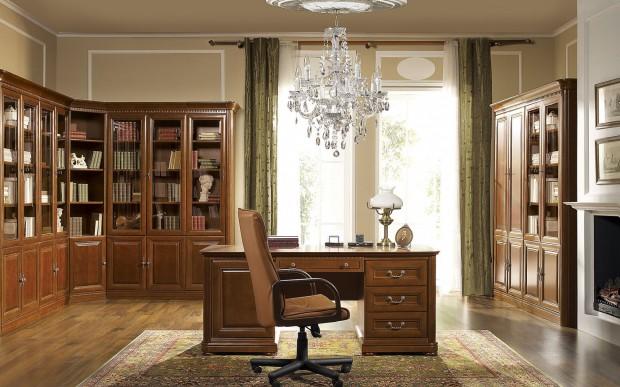 eleganckie biurko do klasycznego gabinetu propozycje
