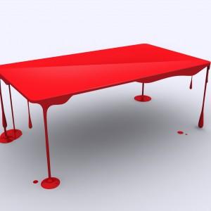 Stół Dripping Table. Proj. i fot. John Nouanesing.