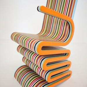 Kolorowe krzesło Mr. Smith the Second zaprojektował Anthony Hartley. Fot. Anthony Hartley Furniture.