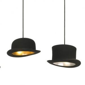 Lampy-kapelusze Jeeves&Wooster. Fot. Innermost.