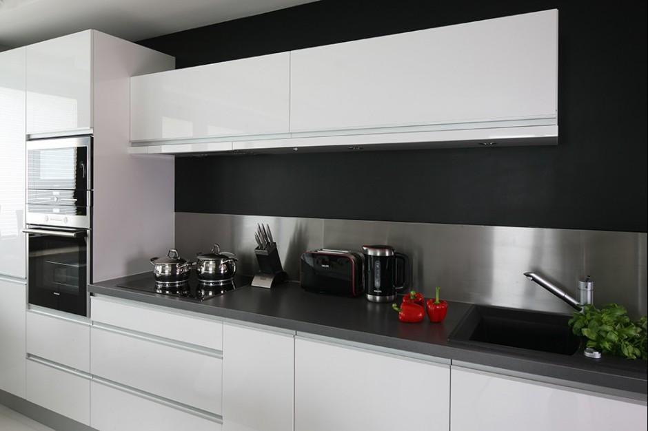 Realizacja Architekta Minimalistyczna Biała Kuchnia