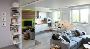 Ten apartament, od podłogi po sufit, emanuje kobiecością. Nie standardową, słodką i różową, ale nowoczesną i odważną. Z mocnym kolorem i diamentowym akcentem.