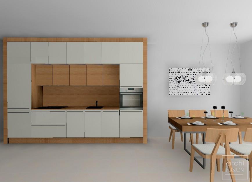 Realizacja Architekta Kuchnia Zamknięta W Ramie