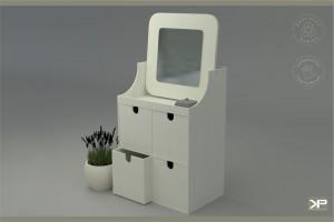 SOPPE toaletka z czterema pojemnymi szuflatkami, jedyna na rynku w wersji medium