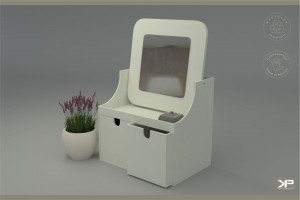 SOPPE toaletka z dwoma pojemnymi szuflatkami, jedyna na rynku w wersji medium