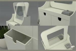 SOPPE toaletka z dwoma/czterema pojemnymi szuflatkami, jedyna na rynku w wersji medium