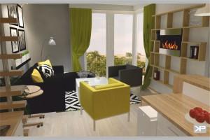 Mieszkanie w Wilnie - salon.