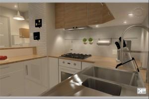 Mieszkanie w Wilnie - kuchnia.