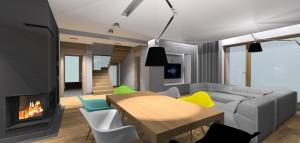 Dom zrównoważony - salon.
