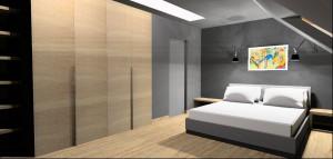 Dom zrównoważony - sypialnia.