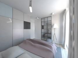 Jasne mieszkanie - sypialnia.