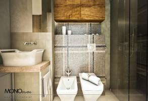 Efektowna łazienka w ekskluzywnym wydaniu .