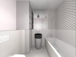 Jasne mieszkanie - łazienka.