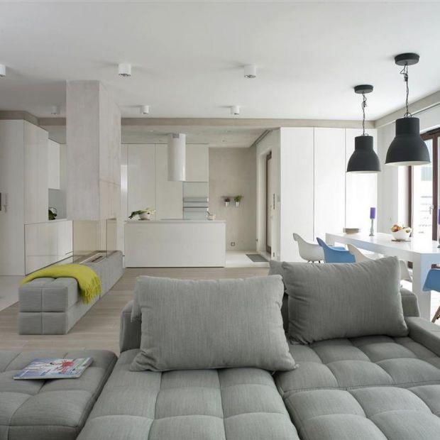 Nowoczesny salon w minimalistycznym stylu