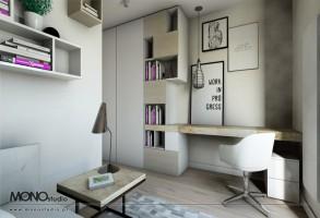 Domowe biuro w mieszkaniu krakowskiego przedsiębiorcy.