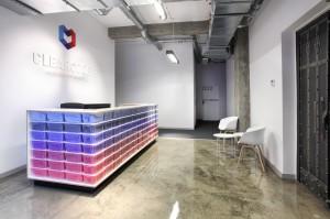 Wnętrza firmy Clearcode we Wrocławiu.