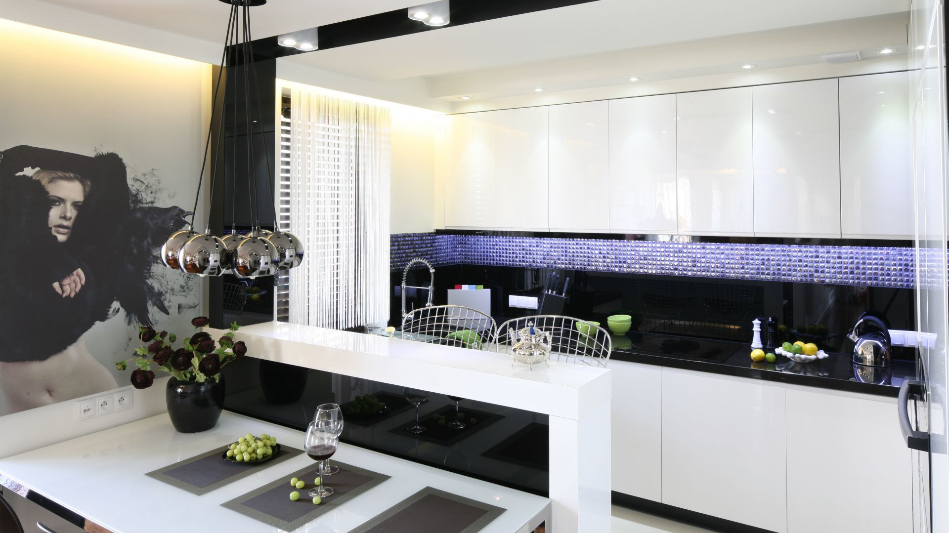 Biało Czarne Kuchnie Eleganckie I Nowoczesne Zobaczcie