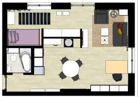 Mieszkanie funkcjonalne - rzut.