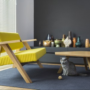Fotel z kolekcji Clapp zaprojektowanej przez Piotra Kuchcińskiego dla marki Noti. Nagroda Red Dot 2014! Fot. Noti.
