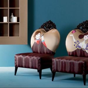 Zabawne fotele Tizzi najlepiej wyglądają w duecie. Fot. Creazioni.