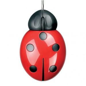 Ladybug - myszka w kształcie biedronki. Sprzedaż: Czerwona Maszyna. Fot. Czerwona Maszyna.