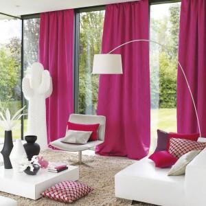 Kolekcja różowych tkanin Pulp. Fot. Casadeco.