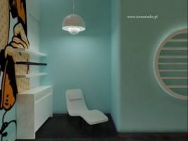 Salon kosmetyczny z pop-artowymi motywami.