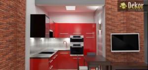 Łazienka w czerwonej kolorystyce. Legnica