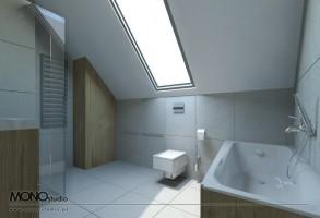 Oryginalna łazienka dla kreatywnego singla.