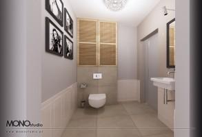 Łazienka w klasycznej formie dla eleganckiej kobiety.