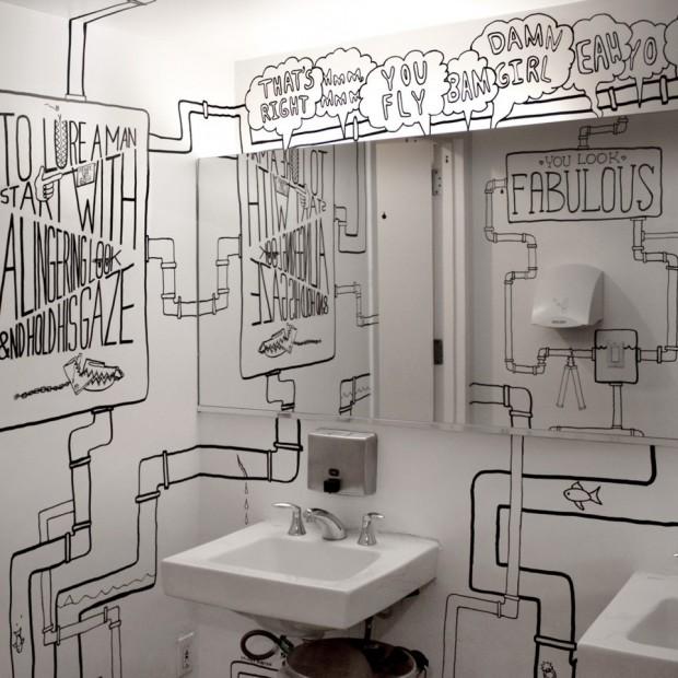 Sztuka w łazience. Elementy grafiki jako oryginalne zdobienie