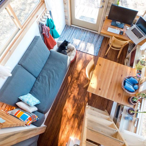 Najmniejszy dom świata. 15 m2 też można urządzić funkcjonalnie!