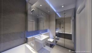 Projekt Górczewska - łazienka.