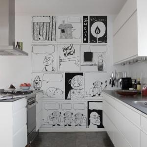 Komiks na kuchennej ścianie. Kolekcja Interaction. Fot. Mr Perswall.