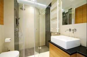 Łazienka w mieszkaniu na Mokotowie.