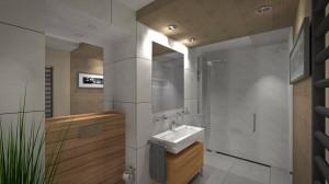 Realizacja Architekta Nowoczesna Mała łazienka Częstochowa