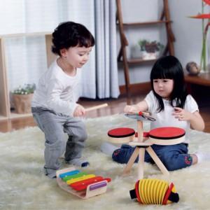 Mają znakomite właściwości akustyczne. Fot. Plan Toys.