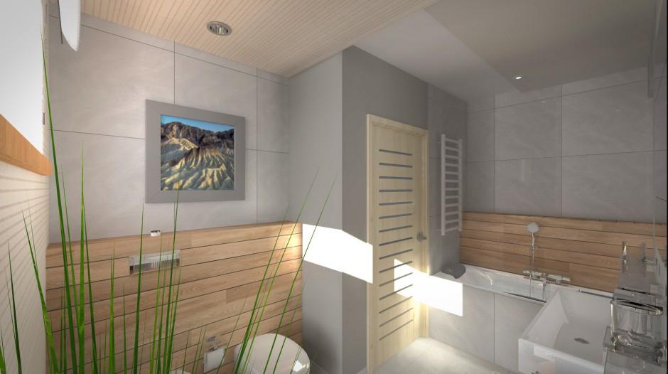 Realizacja Architekta Nowoczesna Mała łazienka Z Dwiema