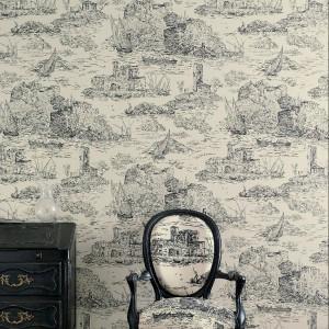 Tapeta Toile de Jouy marki Harlequin - klasyczne wzory w nowoczesnym wydaniu. Fot. Harlequin.