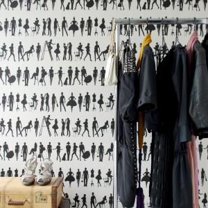 Tapeta Fashion z modnym, graficznym wzorem. Fot.Ferm Living.