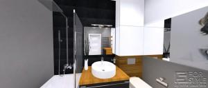 Łazienka w mieszkaniu na Żoliborzu.