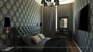 Stylizowana sypialnia z wyjątkowym charakterem.