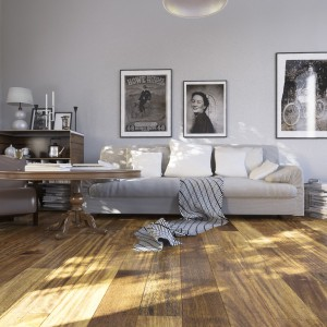 Olejowana podłoga drewniana Merbau Country. Fot. Jawor Parkiet.