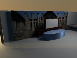 Projekt salonu hotelowego.