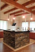 Dom drewniany w ekskluzywnym wydaniu - kuchnia.